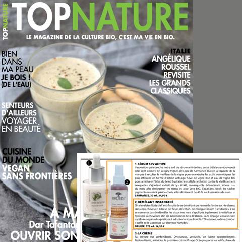 Druide Bio dans le magasine : Top nature